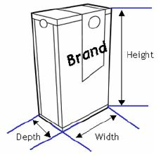 After The Default Front Has Been Determined It Is Possible To Determine Height Width And Depth Of Consumer End User Unit